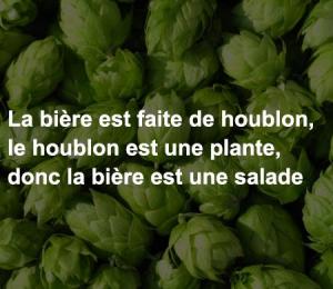 La bière est une salade