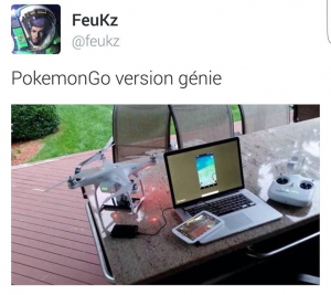 Quand tu veux jouer à Pokémon GO mais t\'as la flemme